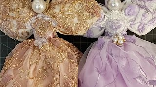 Christmas Angels In Lavender And Rose Gold Projects In My Shop And Seam Binding Share Shabby Chic