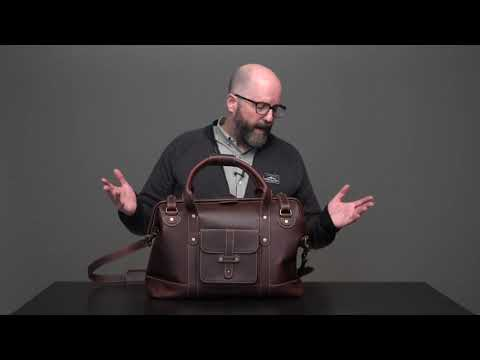 Gladstone Leather Duffle Bag Video