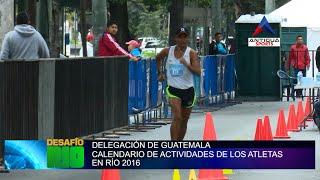Calendario de competiciones de Guatemala en Juegos Olímpicos de Río 2016