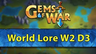 ⚔️ Gems of War World Lore Event | Week 2 Day 3 | Finishing World Lore Event and Maxing Pet ⚔️