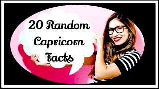 20 RANDOM FACTS ABOUT CAPRICORN ♑️!!!
