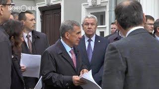 Минниханов посетил реставрируемое здание союза композиторов РТ