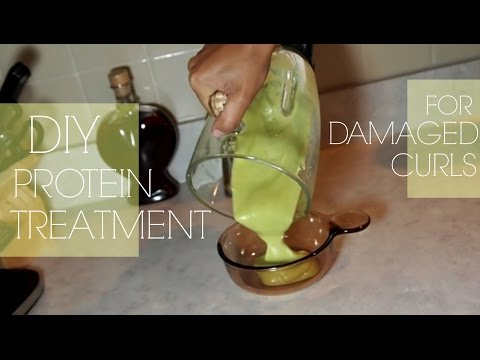 Video DIY Protein Treatment for Damaged Curls