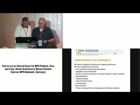 6 How to run an Internet forum for MPN Patients, Pros and Cons, Rainer Kuhlmann & Werner Zinkand