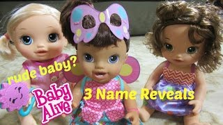 BABY ALIVE DOLL Summer Is So RUDE? Go Bye-Bye Doll + Ready For School + Butterfly Party Name Reveal