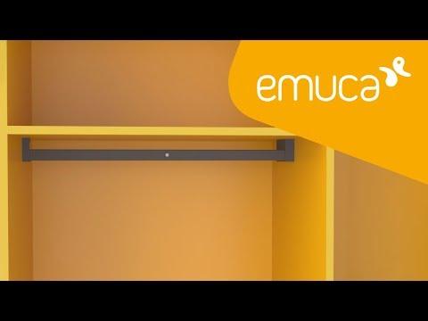 Cómo montar en un armario la barra de colgar con iluminación LED Castor - Emuca