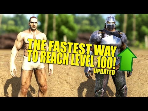 Download FASTEST WAY TO LEVEL 100! (Updated)(How Not To Be a Noob) - Ark:Survival Evolved HD Video