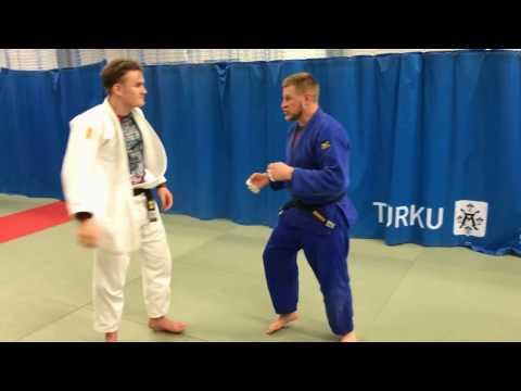 Дзюдо. Бросок через спину. Judo. Ippon seoi nage видео