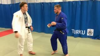 Дзюдо. Бросок через спину. Judo. Ippon seoi nage