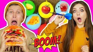 ВЗОРВИ правильный шарик, ЧТОБЫ сделать бургер! НОВЫЙ ЧЕЛЛЕНДЖ! 🐞 Эльфинка