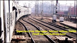 preview picture of video 'Indian Railways..Departure from KHARAGPUR Junction (WORLD's third longest railway platform)!'