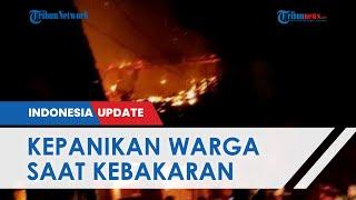 Pasar Sukorejo Kendal Hangus Dilalap Si Jago Merah, Pedagang Panik Api Merambat Bakar 13 Kios