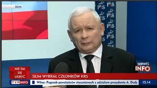 Kaczyński: Opozycja robi aferę o nic, jak zwykle, Witek zrobiła dobrze.