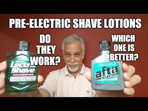Shaving w Electric Razor : Which Pre-Electric shave product is better?
