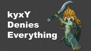 kyxY denied enemy hero Dota 2