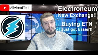 Electroneum New Exchange! - Buying ETN Just got Easier!!