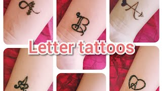 LETTER TATTOOS || ABC || Part -1