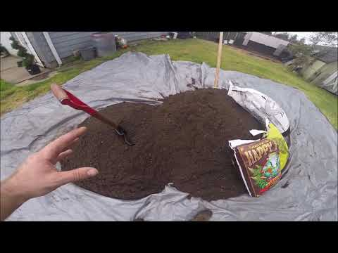 Backyard Cannabis Farming 2019 Episode 4: Optimal Organic Soil Formula, Creating a Raised In-Ground Bed, Protective Fencing - Minimizing Energy Consumption & Repurposing Materials