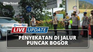 LIVE UPDATE: Kondisi Terkini Penyekatan di Puncak Bogor