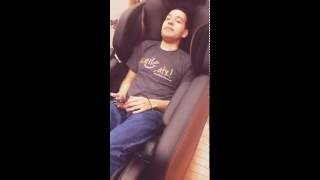 BROTHER SITS IN MASSAGE CHAIR 4 THE 1ST TIME!
