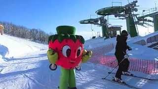 比布町ゆるキャラ「スノーベリー」のスキーです。