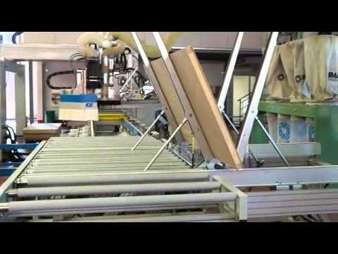 Linea automatica lavorazione porte in legno