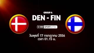 UEFA Women's EURO 2013 : เดนมาร์ค-ฟินแลนด์   สวีเดน-อิตาลี