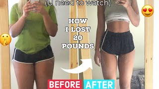 HOW I LOST 20 POUNDS IN 1 MONTH *What I eat*Intermittent fasting+Chloe ting 2 week shred abs at home