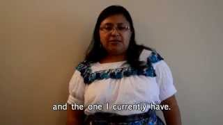 Testimonials: Voices of Youth Leadership: Manuela Garcia – 2004 – Guatemala
