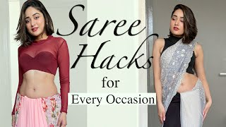 How A GIRL Can Wear SAREE Differently & Look Stylish