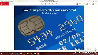 How to find your policy number on insurance card