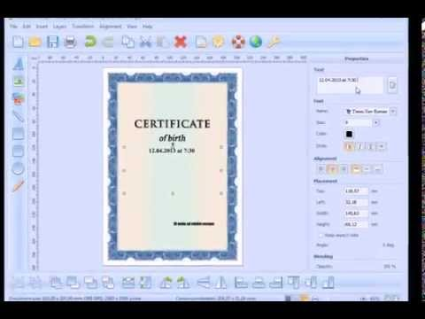 How to create and print a Certificate of Birth - YouTube