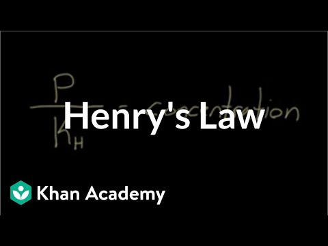 Henry's law (video) | Gas exchange | Khan Academy