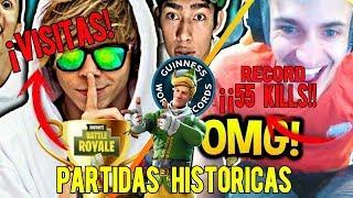TOP PARTIDAS HISTÓRICAS EN FORTNITE (HISTORICALS PLAYS IN FORTNITE)