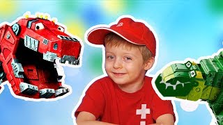 DINOTRUX Игра про Динозавров для Детей #2 ДИНОТРАКС Мультик про Динозавров Lion boy