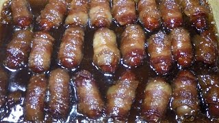 Scrumptious Bacon Wrapped Little Smokies Sausage Appetizer
