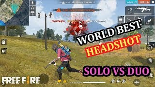 WORLD BEST HEADSHOTS IN FREE FIRE |SOLO VS DUO | BACK TO BACK HEADSHOTS