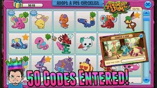 Animal Jam Adopt-A-Pet - 50 Codes Entered! What Is The Prize?