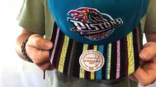 Pistons 'NATIVE-STRIPE SNAPBACK' Teal Hat by Mitchell & Ness
