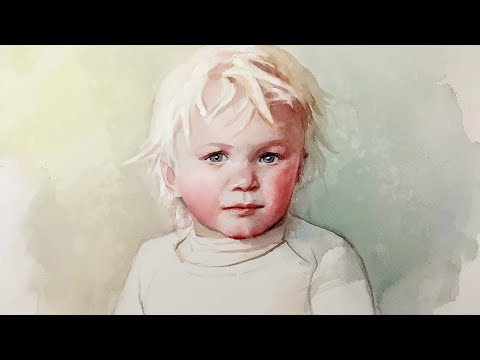 Portrait #120 - Watercolor Painting of a Young Child - Step by Step