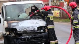 Pożar samochodu do Czajkowskiego