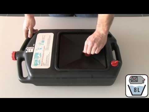 Anwendungsvideo Ölauffangwanne 7,5 Liter KS Tools 150.9357