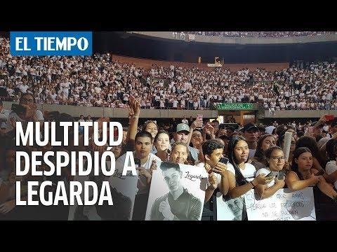 Así fue la multitudinaria despedida a Legarda en Medellín