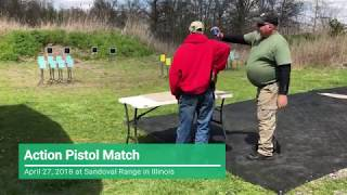 Action Pistol Match at Sandoval Range, Illinois - Shooter 1