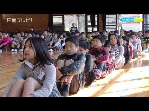 閉校になった吉野方小の児童 飫肥小へ初登校(宮崎県日南市)