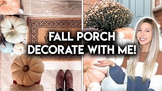 FALL FRONT PORCH MAKEOVER | DIY DECORATE WITH ME