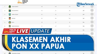 Klasemen Akhir PON XX Papua: Jawa Barat Juara Umum Kantongi 353 Medali, Sejumlah Rekor Didapat