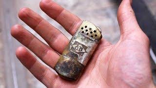 Restoring dented vintage lighter - Restoration project