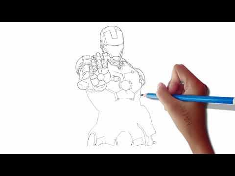 DRAWING : SUPERHERO IRON MAN