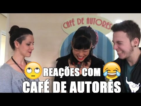 Reações de Dáfne e Nicolas #1 feat. Café de Autores #elefantesediverte
